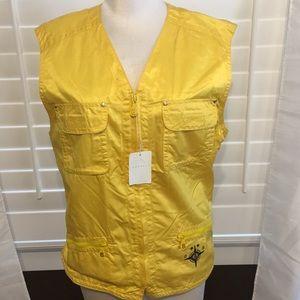 Bogner Yellow Outdoor Vest - Sz 10